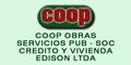 Coop Obras - Servicios Pub - Soc - Credito y Vivienda Edison Ltda