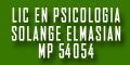 Lic en Psicologia Solange Elmasian - Mp 54054