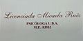 Licenciada en Psicologia Micaela Ruiz