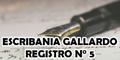 Escribania Gallardo Registro N° 5