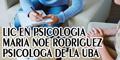 Lic en Psicologia Maria Noe Rodriguez - Psicologa de la UBA
