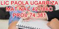 Lic Paola Ugarriza   Mat Nac 42.186C - Prov 74.381