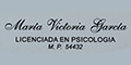 Licenciada en Psicologia Maria Victoria Garcia Unlp
